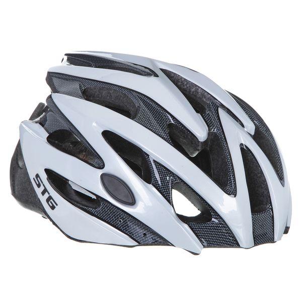 Шлем велосипедный STG MV29-A, цвет: белый. Размер L. Х66754WRA523700Велошлем STG - необходимый аксессуар каждого велосипедиста, предназначенный для защиты головы во время катания. Специальные отверстия обеспечивают оптимальную вентиляцию головы. Легкая и технологичная конструкция Out-mold гарантирует безопасность райдеров, катающихся, как в городе, так и по пересеченной местности. Велошлем STG с удобной подкладкой и застежкой, которая комфортно фиксирует шлем на голове велосипедиста - это отличный выбор для ежедневных активных поездок или безопасных прогулок по выходным.