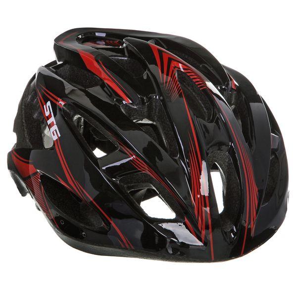 Шлем велосипедный STG MV88-7, цвет: черный. Размер L. Х66756Z90 blackВелошлем STG - необходимый аксессуар каждого велосипедиста, предназначенный для защиты головы во время катания. Специальные отверстия обеспечивают оптимальную вентиляцию головы. Легкая и технологичная конструкция Out-mold гарантирует безопасность райдеров, катающихся, как в городе, так и по пересеченной местности. Велошлем STG с удобной подкладкой и застежкой, которая комфортно фиксирует шлем на голове велосипедиста - это отличный выбор для ежедневных активных поездок или безопасных прогулок по выходным.