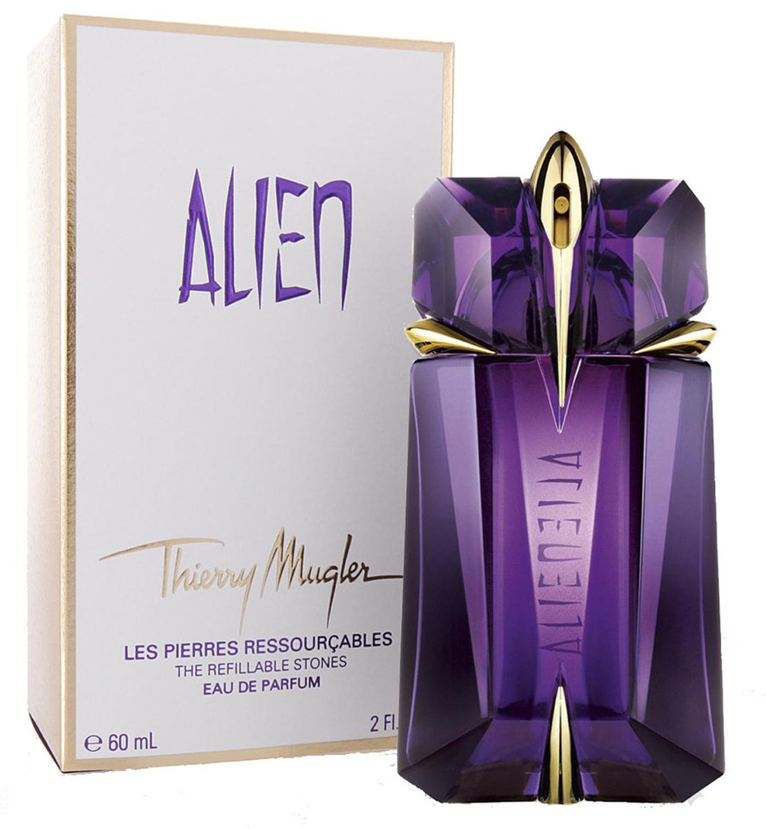 Thierry Mugler Парфюмированная вода Alien, женская, 60 мл1301210Древесные, ориентальные. Жасмин, древесина, амбра.