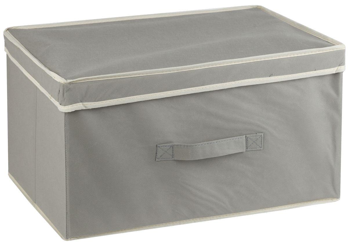 Короб для хранения White Fox Standart, с крышкой, цвет: серый, 38 х 33 х 18 см10503Коллекция Standart от White Fox изготовлена из нетканного полотна, наиболее популярного среди товаров для хранения вещей. В коллекции представлены самые популярные вещи: подвесные кофры, короба с крышками и без, мягкие чехлы для вещей, чехлы для костюмов. Все изделия упакованы в компактную упаковку, которая имеет подвес. Короба складываются.