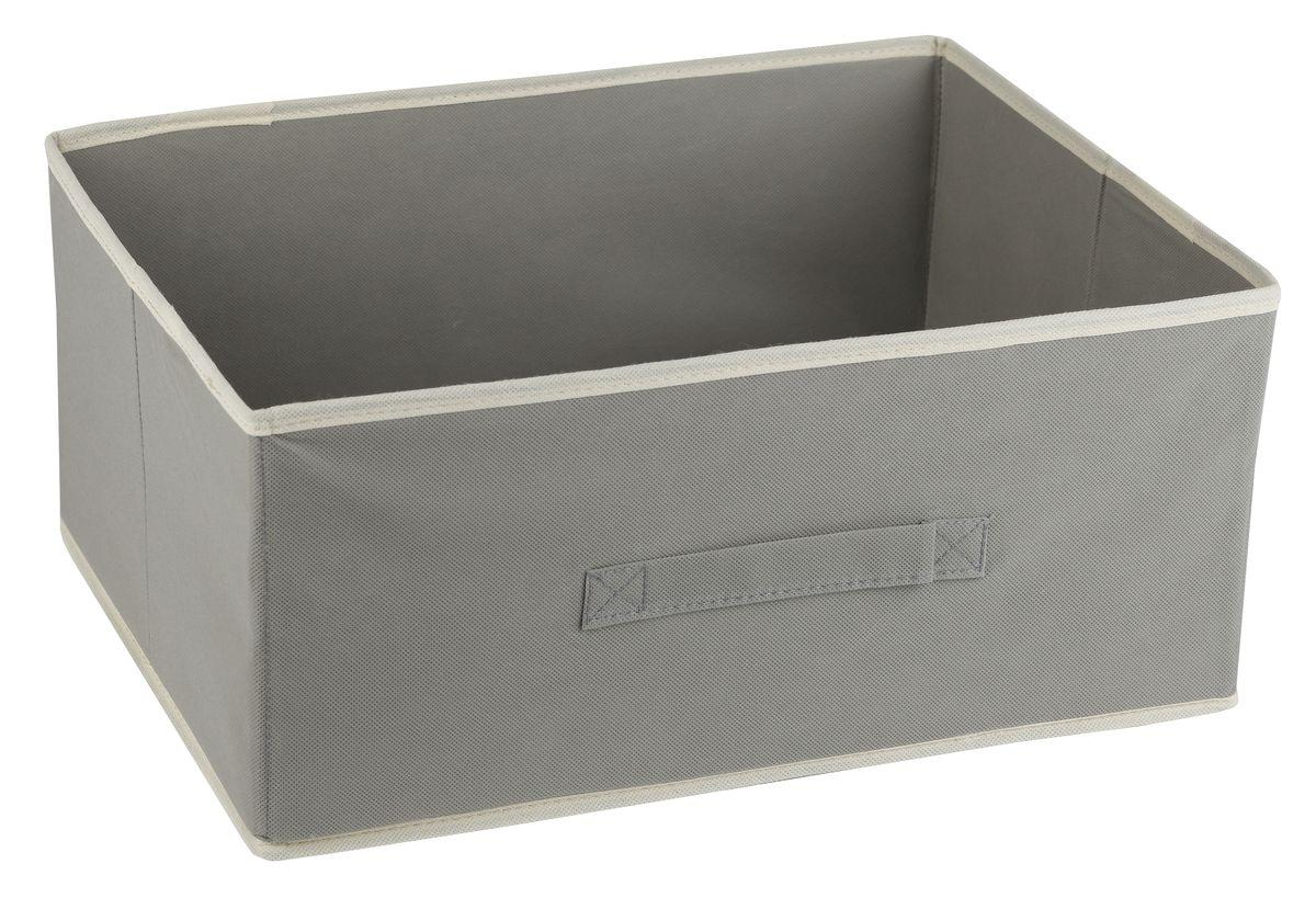 Короб для хранения White Fox Standart, цвет: серый, 54 х 40 х 25 смБрелок для ключейКороб White Fox Standart изготовлен из нетканого полотна, наиболее популярного среди товаров для хранения вещей. Для удобства в обращении имеется ручка. Короб имеет складную конструкцию.