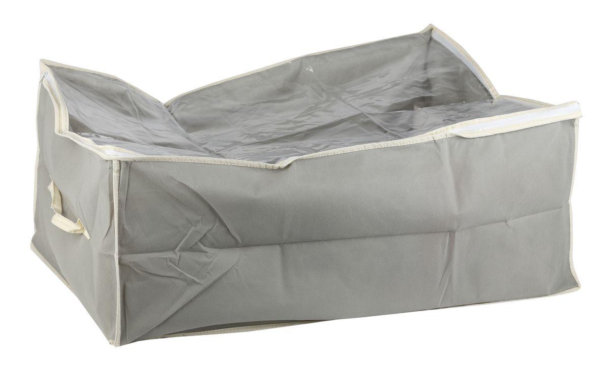 Чехол для вещей White Fox Standart, цвет: серый, 30 х 50 х 60 см531-401Коллекция Standart от White Fox изготовлена из нетканного полотна, наиболее популярного среди товаров для хранения вещей. В коллекции представлены самые популярные вещи: подвесные кофры, короба с крышками и без, мягкие чехлы для вещей, чехлы для костюмов. Все изделия упакованы в компактную упаковку, которая имеет подвес. Короба складываются.
