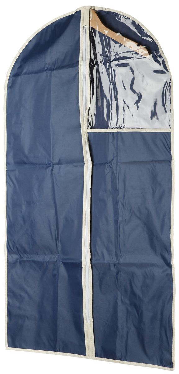 Чехол для одежды White Fox Comfort, цвет: голубой, 60 х 100 смRG-D31SКоллекция Comfort от White Fox изготовлена из полиэстера с пропиткой.Особенность товаров в том, что их можно протирать, в них не накапливается пыль и вещи остаются чистыми.В коллекции представлены самые популярные вещи: подвесные кофры, короба с крышками и без, мягкие чехлы для вещей, чехлы для костюмов.Все изделия упакованы в компактную упаковку, которая имеет подвес.Короба складываются.