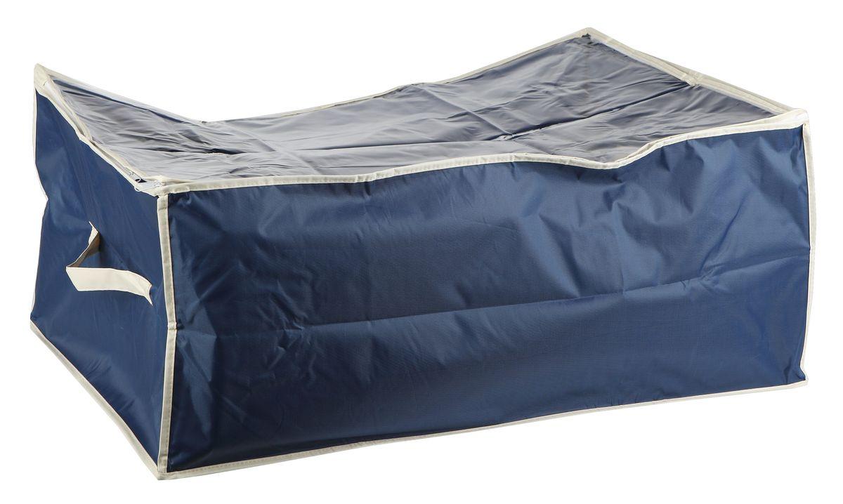 Чехол для хранения вещей White Fox Comfort, цвет: синий, 30 х 50 х 60 смa030041Чехол для хранения White Fox Comfort выполнен из высококачественного полиэстера с пропиткой. Особенность данного материала в том, что его можно протирать, в нем не накапливается пыль, и вещи остаются чистыми.Чехол обеспечит надежное хранение вашей одежды и различных вещей, защитит от повреждений, пыли, грязи во время хранения и транспортировки.