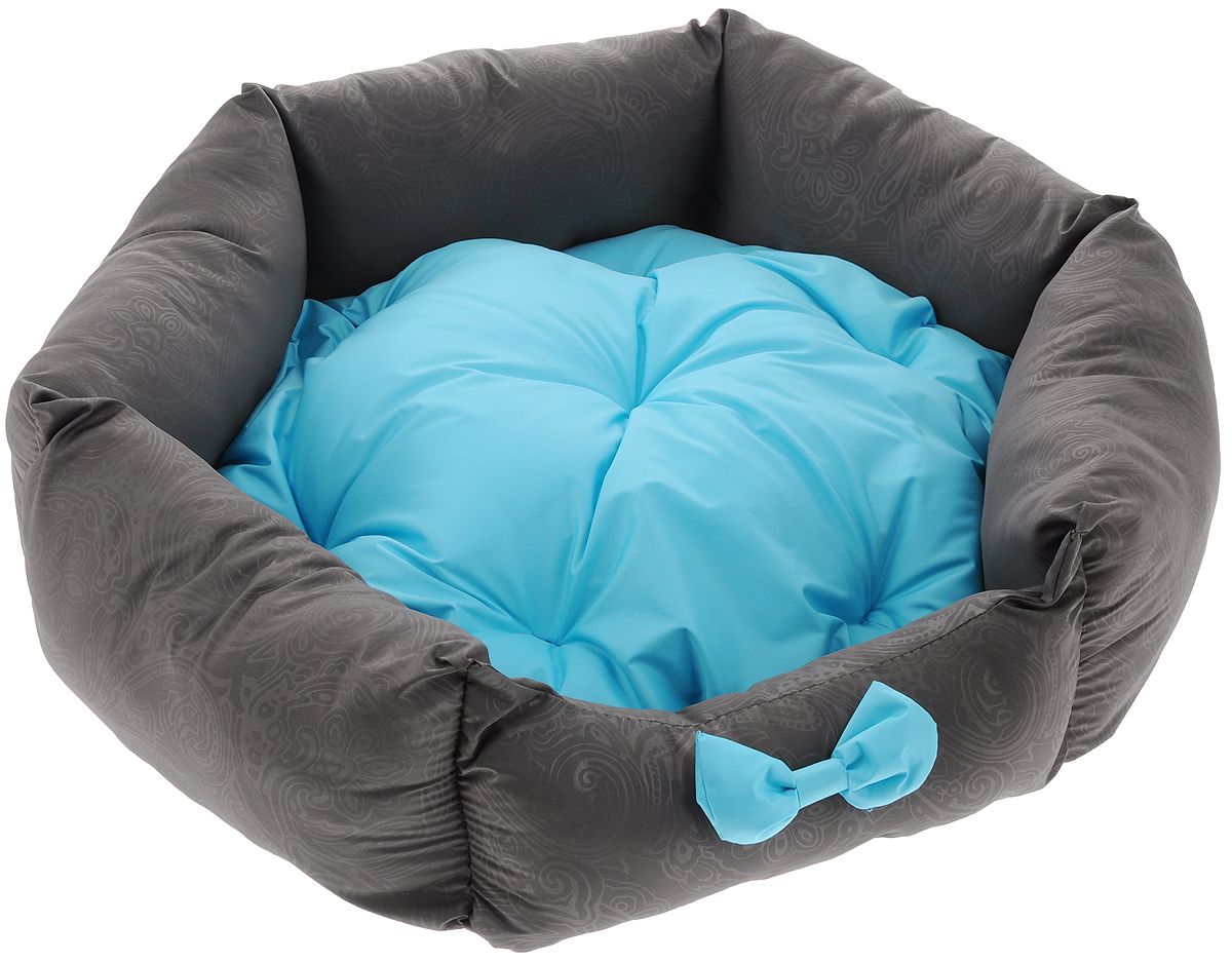 Лежанка для собак Lion Manufactory Комфорт, с подушкой, цвет: голубой, 53 х 48 х 16 см0120710Лежанка Lion Manufactory Комфорт, выполненная из хлопка и синтепона, предназначена для собак. Она идеальна для клеток и автомобилей. Легко складывается для хранения и перевозки. К изделию не прилипает шерсть животного. Изделие оснащено съемной подушкой.