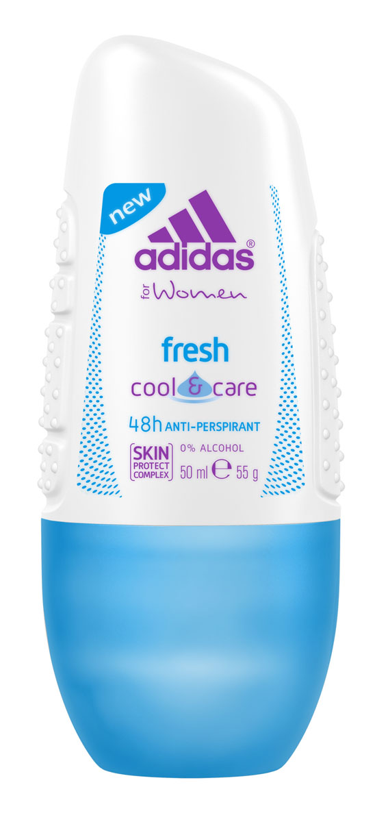 Adidas Дезодорант-антиперспирант ролик Cool&Care Fresh Anti-Perspirant Roll-On, женский, 50 мл72523WDЗащита - 48 ч. Прекрасное сочетание ухода и защиты от пота. Легкий аромат придаст ощущение комфорта.
