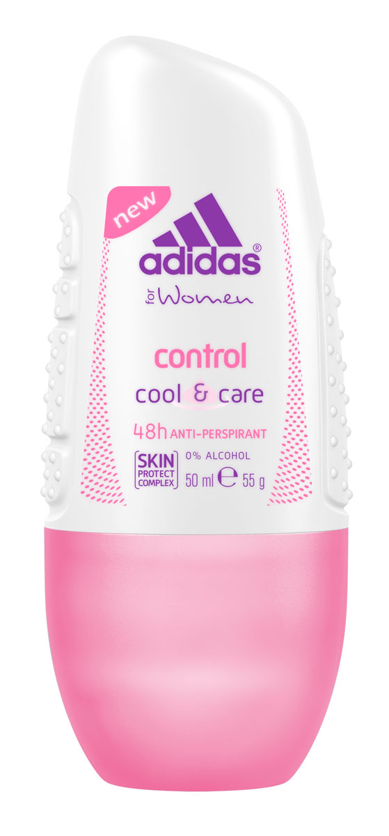 Adidas Дезодорант-антиперспирант ролик Cool&Care Control Anti-Perspirant Roll-On, женский, 50 млП5Защита - 48 ч. Прекрасное сочетание ухода и защиты от пота. Легкий аромат придаст ощущение комфорта.