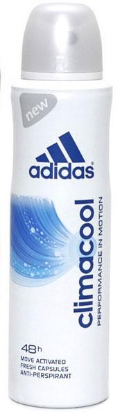 Adidas Антиперспирант спрей Climacool, женский, 150 мл4605845001463Защита - 48 ч. Прекрасное сочетание ухода и защиты от пота. Легкий аромат придаст ощущение комфорта, дополнительный заряд свежести.