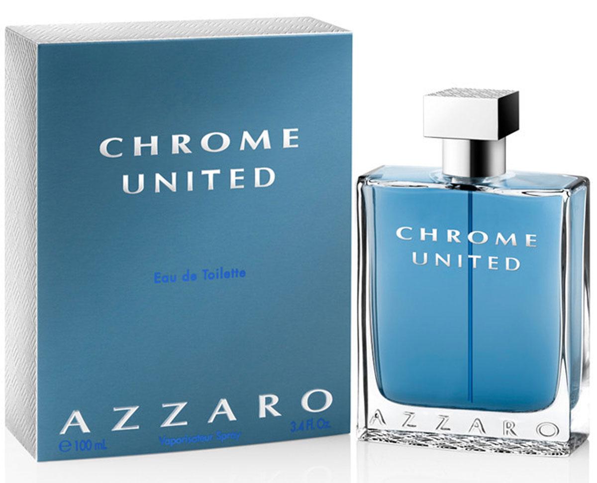 Azzaro Chrome Туалетная вода United, мужская, 100 млMKGOF-C54-VAPO-N-75-PRКлассификация: элитная.Тип аромата: древесные, пряные.Начальная нота: бергамот, кориандр, сычуанский перец.Нота сердца: листья фиалки, черный цейлонский чай.Конечная нота: белый мускус, кедр.
