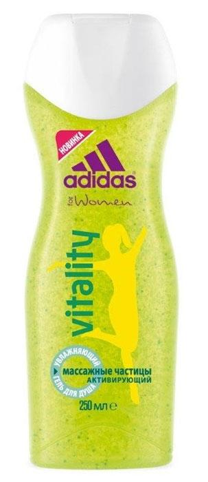 Adidas Гель для душа увлажняющий VItalIty, женский, 250 мл340130571412/3607347395843/3607347395850Освежающий гель заряжает вашу кожу энергией.