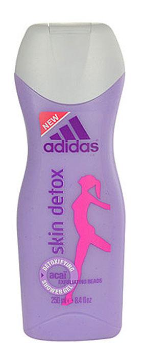 Adidas Гель для душа Detox, женский, 250 мл340132198/3607343762809Текстура гель, содержит отшелушивающие гранулы, ягоды асаи, вывод токсинов.