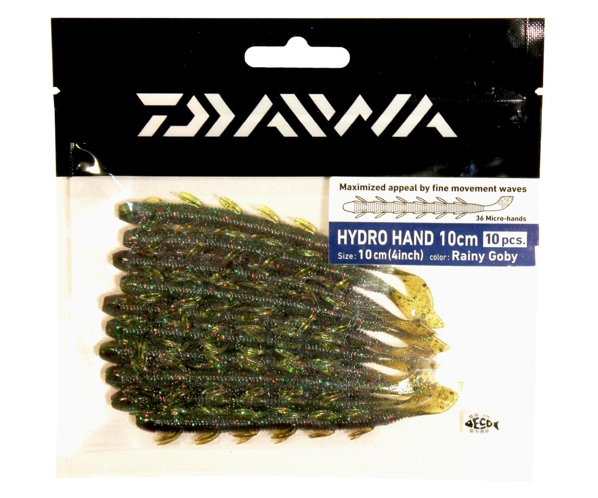 Твистер Daiwa Hydro Hand 10см, цвет: Rainy Goby, 10шт. 505984271825HYDRO HAND - сделанная в Японии - мягкая приманка в форме червя. Маленькие лапки производят множество движений даже во времфя равномерной проводки, делая игру приманки невероятно реалистичной. Мягкая резина легко проглатывается окунем. Действительно выдающаяся приманка для ловли окуня. Идеально для использования с остнасткой Carolina или для ловли по методу Drop Shot. Особенна хороша для водоемов с течением.