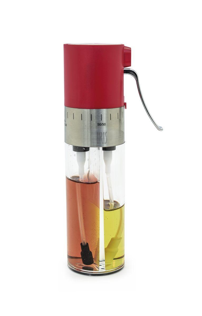 Диспенсер для масла и уксуса Iris Totkocina, с регулятором и фильтрами, цвет: красныйLU-1853Этот диспенсер для масла и уксуса обладает особым дозатором-спреем, который позволяет Вам смешивать его содержимое в любых пропорциях. Также на нем установлен фильтр для отсеивания инородных частиц. Рекомендуется мыть в посудомоечной машине.