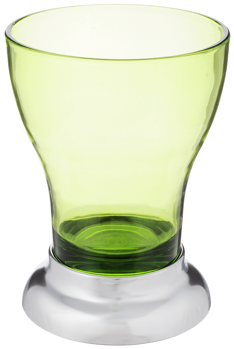 Стакан для ванной Fresh Code Фигурный, цвет: зеленый, серебристый, 350 мл стакан для ванной fresh code бамбук цвет салатовый 500 мл