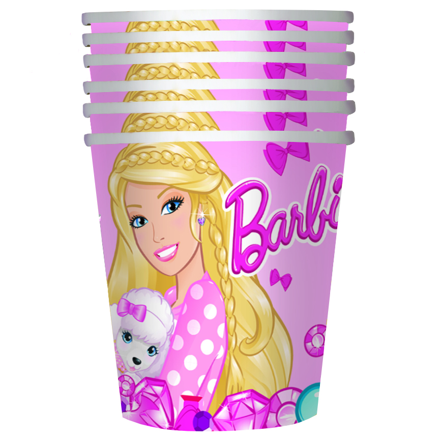Barbie Стакан бумажный Барби 6 шт