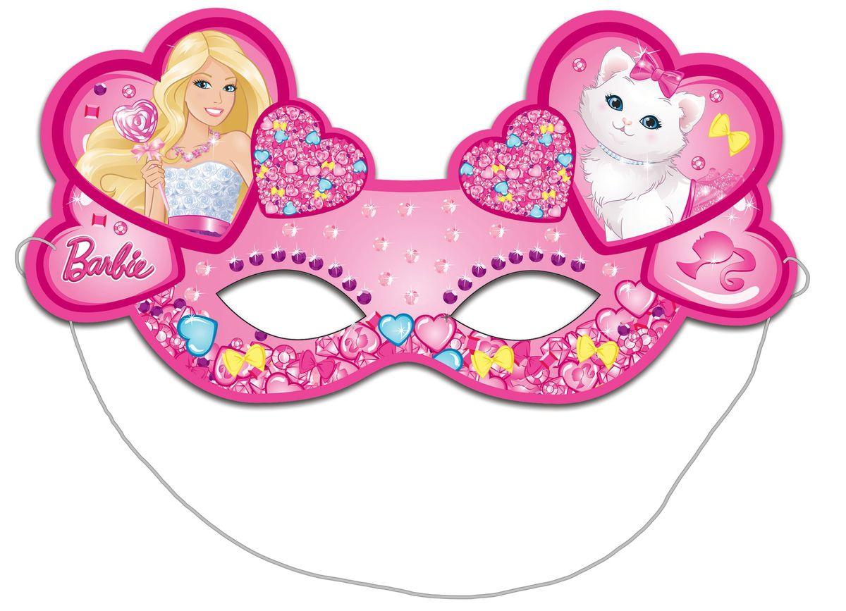 Barbie Маска карнавальная Барби 6 шт
