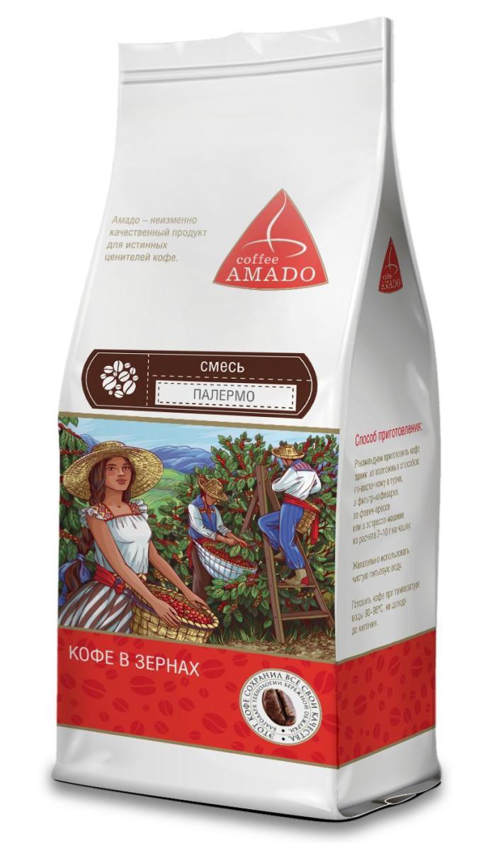 AMADO Палермо кофе в зернах, 200 г0120710AMADO Палермо - смесь средней обжарки. Вкус хорошо сбалансирован. Эспрессо очень насыщенный, с красивой пенкой, в послевкусии горький шоколад. Рекомендуемый способ приготовления: по-восточному, френч-пресс, гейзерная кофеварка, фильтр-кофеварка, кемекс, аэропресс.