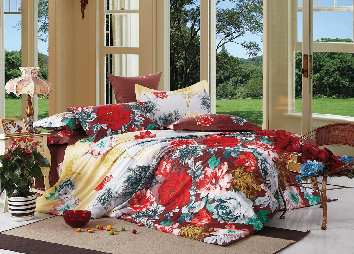 Комплект белья Primavera Classic Красные цветы, 2-спальный, наволочки 70x70K100Комплект постельного белья Primavera Classic Красные цветы является экологически безопасным для всей семьи, так как выполнен из высококачественного сатина (100% хлопка). Комплект состоит из пододеяльника на молнии, простыни и двух наволочек. Постельное белье оформлено ярким рисунком цветов и имеет изысканный внешний вид. Сатин - производится из высших сортов хлопка, а своим блеском и легкостью напоминает шелк. Постельное белье из сатина превращает жаркие летние ночи в прохладные и освежающие, а холодные зимние - в теплые и согревающие. Приобретая комплект постельного белья Primavera Classic Красные цветы, вы можете быть уверенны в том, что покупка доставит вам и вашим близким удовольствие и подарит максимальный комфорт.
