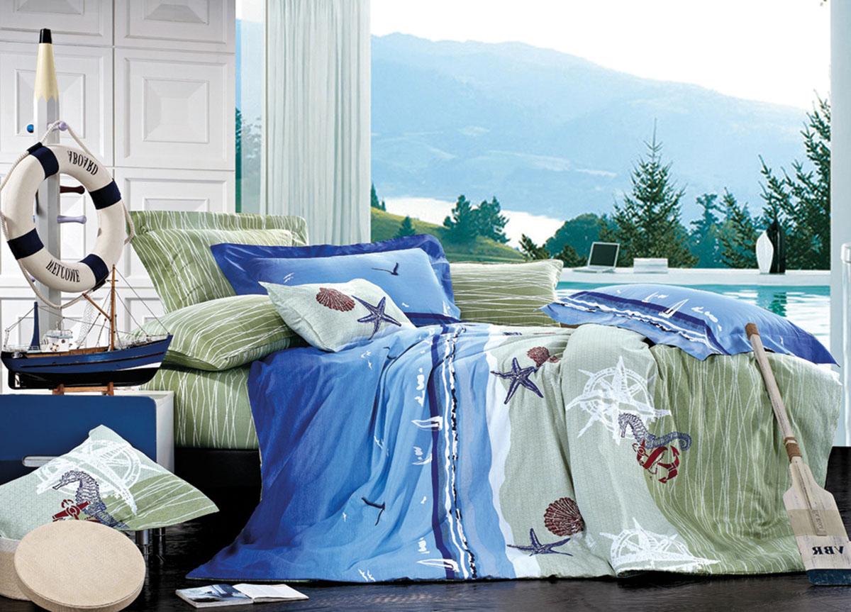 Комплект белья Primavera Classic Морское дно, 2-спальный, наволочки 70x70391602Комплект постельного белья Primavera Classic Морское дно является экологически безопасным для всей семьи, так как выполнен из высококачественного сатина (100% хлопка). Комплект состоит из пододеяльника на молнии, простыни и двух наволочек. Постельное белье оформлено ярким рисунком и имеет изысканный внешний вид. Сатин - производится из высших сортов хлопка, а своим блеском и легкостью напоминает шелк. Постельное белье из сатина превращает жаркие летние ночи в прохладные и освежающие, а холодные зимние - в теплые и согревающие. Приобретая комплект постельного белья Primavera Classic Морское дно, вы можете быть уверенны в том, что покупка доставит вам и вашим близким удовольствие и подарит максимальный комфорт.
