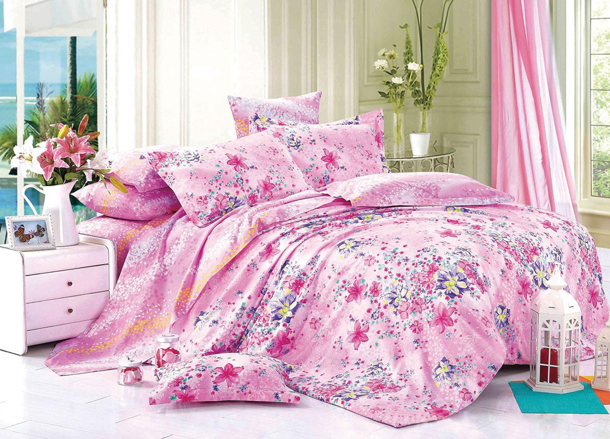 Комплект белья Primavera Classic Цветы, 2-спальный, наволочки 70x70. 72427391602Комплект постельного белья Primavera Classic Усадьба является экологически безопасным для всей семьи, так как выполнен из высококачественного сатина (100% хлопка). Комплект состоит из пододеяльника на молнии, простыни и двух наволочек. Постельное белье оформлено ярким рисунком цветов и имеет изысканный внешний вид. Сатин - производится из высших сортов хлопка, а своим блеском и легкостью напоминает шелк. Постельное белье из сатина превращает жаркие летние ночи в прохладные и освежающие, а холодные зимние - в теплые и согревающие. Приобретая комплект постельного белья Primavera Classic Усадьба, вы можете быть уверенны в том, что покупка доставит вам и вашим близким удовольствие и подарит максимальный комфорт.