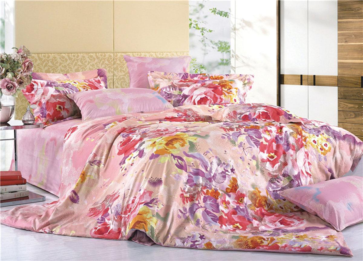 Комплект белья Soavita Classic. Цветы, 2-спальный, наволочки 70x70, цвет: розовый391602Наволочки с декоративным кантом особенно подойдут, если вы предпочитаете класть подушки поверх покрывала. Кайма шириной 5-10см с трех или четырех сторон делает подушки визуально более объемными, смотрятся они очень аккуратно, даже парадно. Еще такие наволочки называют оксфордскими или наволочками «с ушками».Сатин – прочная и плотная ткань с диагональным переплетением нитей. Хлопковый сатин по мягкости и гладкости уступает атласу, зато не будет соскальзывать с кровати. Сатиновое постельное белье легко переносит стирку в горячей воде, не выцветает. Прослужит комплект из обычного сатина меньше, чем из сатина повышенной плотности, но дольше белья из любой другой хлопковой ткани. Сатин приятен на ощупь, под ним комфортно спать летом и зимой.Производство «Примавера» находится в Китае, что позволяет сократить расходы на доставку хлопка. Поэтому цены на это постельное белье более чем скромные и это не сказывается на качестве. Сатин очень гладкий, мягкий, но при этом, невероятно прочный. Он прослужит вам действительно долго и не полиняет. Для нанесения рисунков используют только безопасные для окружающей среды и здоровья человека красители.