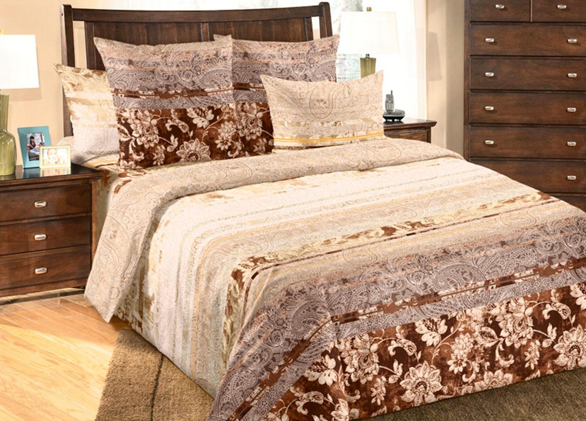 Комплект белья Primavera Амбассадор, 1,5-спальный, наволочки 70x70, цвет: коричневый391602Наволочки с декоративным кантом особенно подойдут, если вы предпочитаете класть подушки поверх покрывала. Кайма шириной 5-10см с трех или четырех сторон делает подушки визуально более объемными, смотрятся они очень аккуратно, даже парадно. Еще такие наволочки называют оксфордскими или наволочками «с ушками».Сатин – прочная и плотная ткань с диагональным переплетением нитей. Хлопковый сатин по мягкости и гладкости уступает атласу, зато не будет соскальзывать с кровати. Сатиновое постельное белье легко переносит стирку в горячей воде, не выцветает. Прослужит комплект из обычного сатина меньше, чем из сатина повышенной плотности, но дольше белья из любой другой хлопковой ткани. Сатин приятен на ощупь, под ним комфортно спать летом и зимой.Производство «Примавера» находится в Китае, что позволяет сократить расходы на доставку хлопка. Поэтому цены на это постельное белье более чем скромные и это не сказывается на качестве. Сатин очень гладкий, мягкий, но при этом, невероятно прочный. Он прослужит вам действительно долго и не полиняет. Для нанесения рисунков используют только безопасные для окружающей среды и здоровья человека красители.