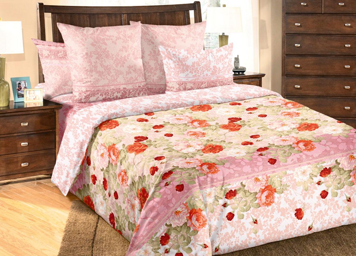 Комплект белья Primavera Теплый день, 1,5-спальный, наволочки 70x70, цвет: розовыйK100Наволочки с декоративным кантом особенно подойдут, если вы предпочитаете класть подушки поверх покрывала. Кайма шириной 5-10см с трех или четырех сторон делает подушки визуально более объемными, смотрятся они очень аккуратно, даже парадно. Еще такие наволочки называют оксфордскими или наволочками «с ушками».Сатин – прочная и плотная ткань с диагональным переплетением нитей. Хлопковый сатин по мягкости и гладкости уступает атласу, зато не будет соскальзывать с кровати. Сатиновое постельное белье легко переносит стирку в горячей воде, не выцветает. Прослужит комплект из обычного сатина меньше, чем из сатина повышенной плотности, но дольше белья из любой другой хлопковой ткани. Сатин приятен на ощупь, под ним комфортно спать летом и зимой.Производство «Примавера» находится в Китае, что позволяет сократить расходы на доставку хлопка. Поэтому цены на это постельное белье более чем скромные и это не сказывается на качестве. Сатин очень гладкий, мягкий, но при этом, невероятно прочный. Он прослужит вам действительно долго и не полиняет. Для нанесения рисунков используют только безопасные для окружающей среды и здоровья человека красители.