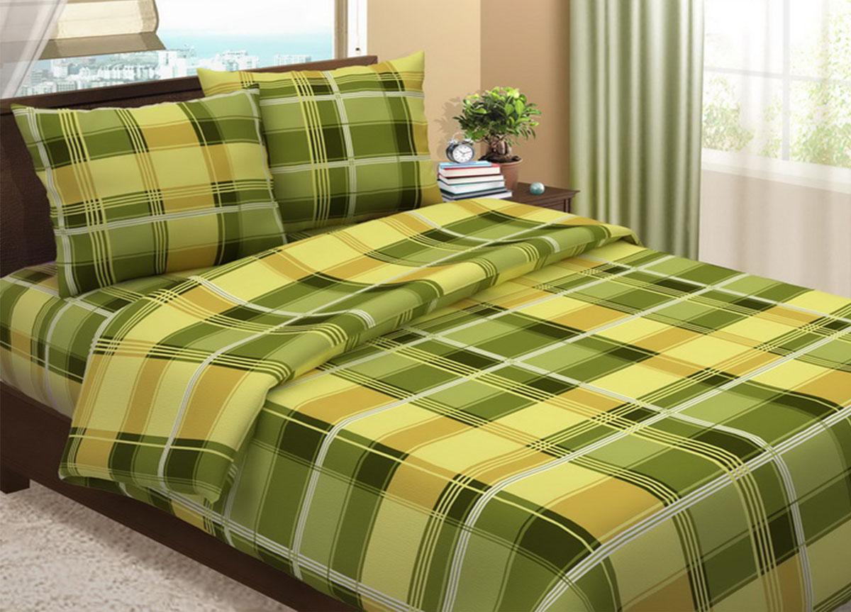 Комплект белья Primavera Клетка зеленая, 2-спальный, наволочки 70x70, цвет: зеленый391602Наволочки с декоративным кантом особенно подойдут, если вы предпочитаете класть подушки поверх покрывала. Кайма шириной 5-10см с трех или четырех сторон делает подушки визуально более объемными, смотрятся они очень аккуратно, даже парадно. Еще такие наволочки называют оксфордскими или наволочками «с ушками».Сатин – прочная и плотная ткань с диагональным переплетением нитей. Хлопковый сатин по мягкости и гладкости уступает атласу, зато не будет соскальзывать с кровати. Сатиновое постельное белье легко переносит стирку в горячей воде, не выцветает. Прослужит комплект из обычного сатина меньше, чем из сатина повышенной плотности, но дольше белья из любой другой хлопковой ткани. Сатин приятен на ощупь, под ним комфортно спать летом и зимой.Производство «Примавера» находится в Китае, что позволяет сократить расходы на доставку хлопка. Поэтому цены на это постельное белье более чем скромные и это не сказывается на качестве. Сатин очень гладкий, мягкий, но при этом, невероятно прочный. Он прослужит вам действительно долго и не полиняет. Для нанесения рисунков используют только безопасные для окружающей среды и здоровья человека красители.