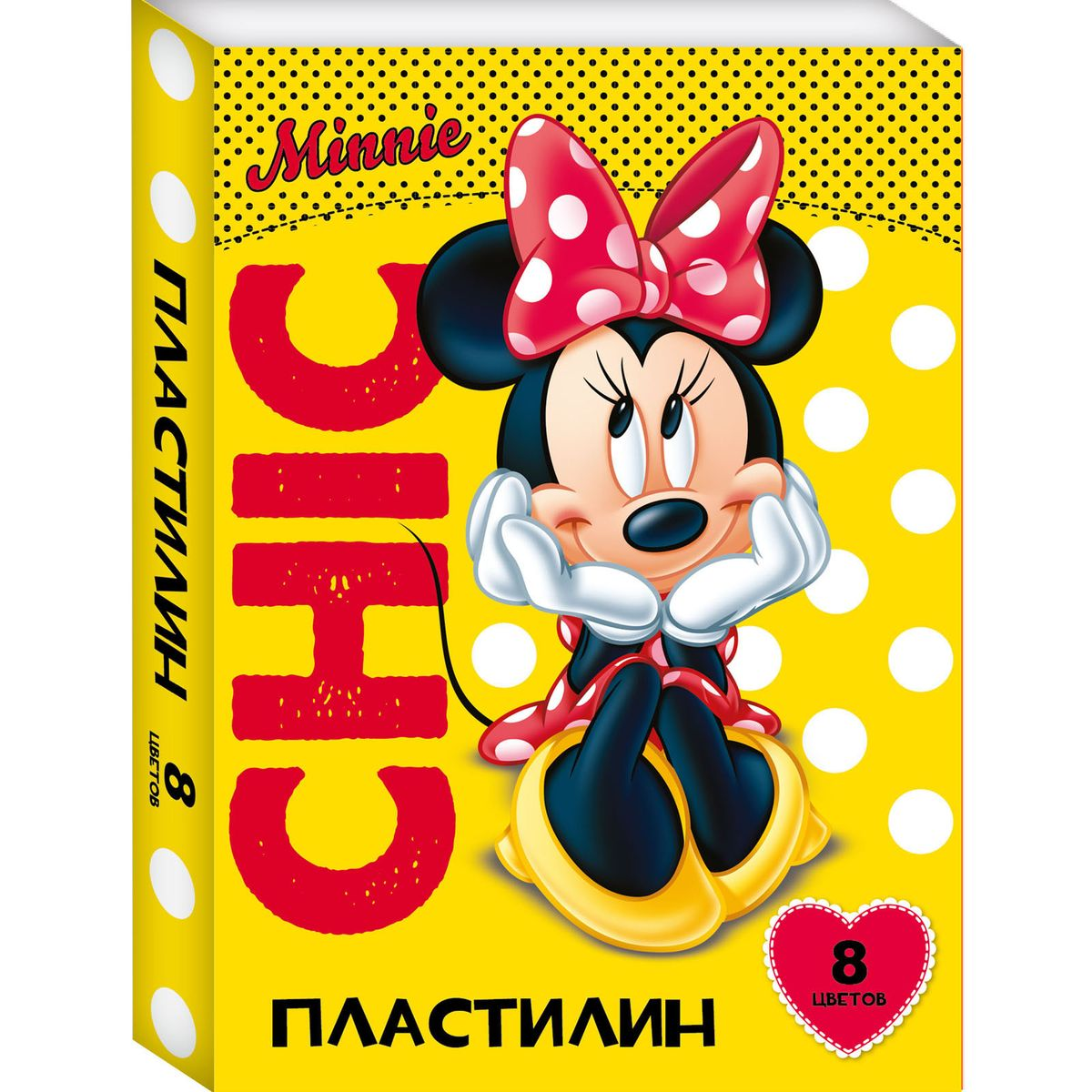 Disney Пластилин Минни 8 цветов72523WDЯркий и легко размягчающийся пластилин Disney Минни поможет вашему малышу создать множество интересных поделок, а очаровательная Минни Маус вдохновит кроху на новые творческие идеи. Лепить из этого пластилина - одно удовольствие: он обладает отличными пластичными свойствами, не липнет к рукам, не имеет запаха, безопасен при использовании по назначению. Смешивайте цвета, фантазируйте, экспериментируйте и развивайте своего малыша: лепка активно тренирует у ребенка мелкую моторику и умение работать пальчиками, развивает тактильное восприятие формы, веса и фактуры, совершенствует воображение и пространственное мышление. А главное - лепить фигурки в компании любимой героини невероятно весело! В наборе 8 цветов пластилина, которые легко смешиваются друг с другом. Состав: парафин, петролатум, мел, каолин, красители.