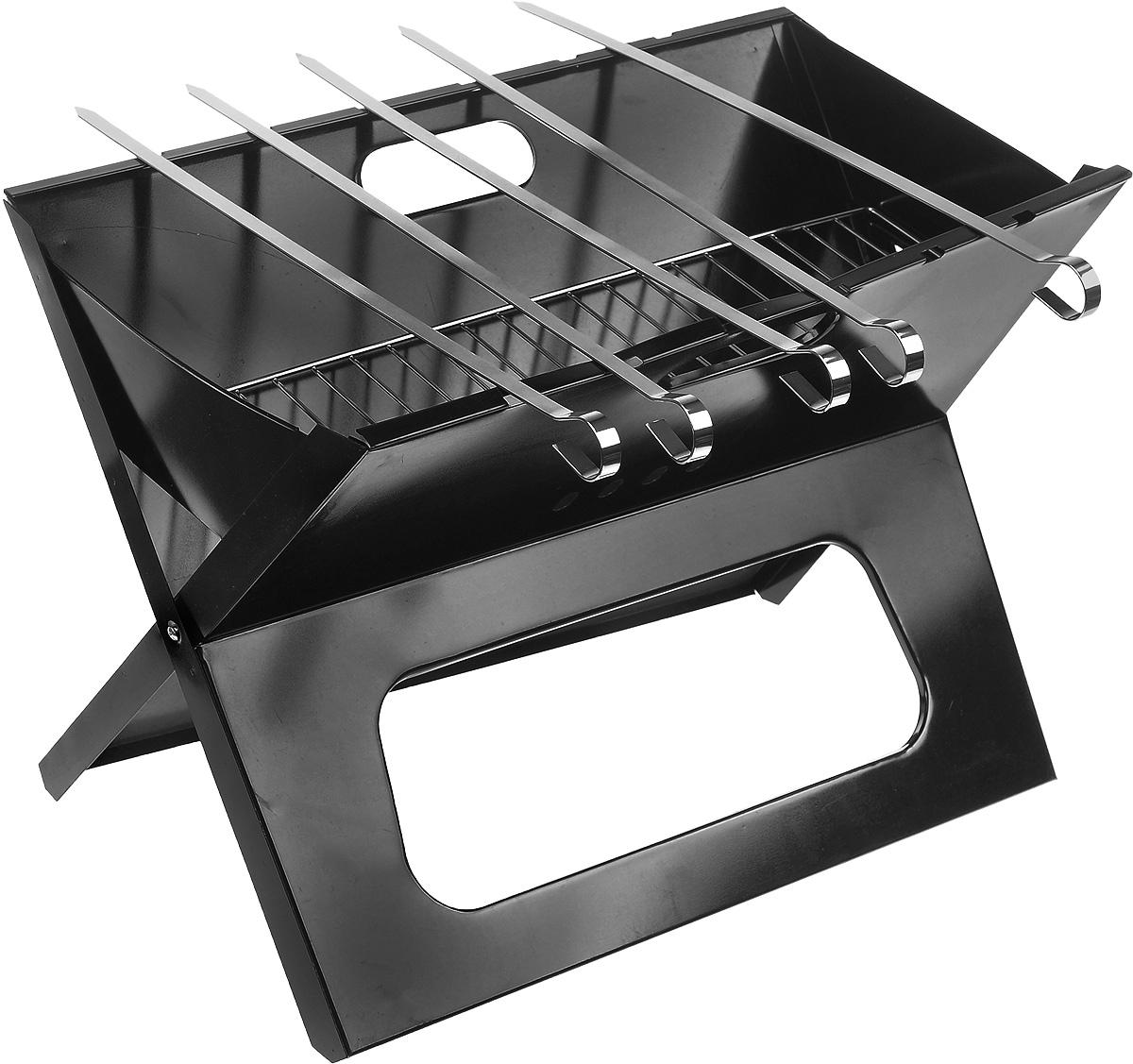 Мангал-книжка RoyalGrill, с 5 шампурами, 46 х 30 х 33 смSСJ-2201Мангал-книжка RoyalGrill выполнен из высококачественной стали. Он предназначен для приготовления пищи (мяса, рыбы, птицы, овощей) на открытом воздухе. Изделие оснащено удобными ручками и имеет складную конструкцию, что облегчает его транспортировку. В комплект входят 5 шампуров.Многие из нас обожают выезжать на природу - здоровая атмосфера, чистый воздух, приятная компания, что может быть лучше для полноценного отдыха? Пикник, проводимый на свежем воздухе, оставляет неизгладимое впечатление: все воспринимается ярче и насыщенней. Редкий пикник обходится без приготовления горячих блюд: шашлыков, запеченных продуктов, мяса, рыбы или овощей. Однако, для того чтобы приготовить шашлык по всем правилам, очень важно использовать соответствующие приспособления, одним из которых является мангал. Это устройство пользуется большой популярностью сегодня. Мангал является и декоративный элементом, изумительно вписывающимся в ландшафт, и средством для приготовления горячих блюд на открытой площадке. Размер мангала: 46 х 30 х 33 см. Длина шампура: 45 см.