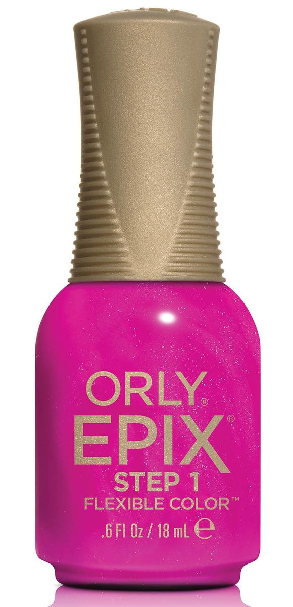 Orly Эластичное цветное покрытие EPIX Flexible Color 946 Paradise Cove, 18 мл29946Двухфазная эластичная система Flexible Color System - это новейшая запатентованная технология последнего поколения от ORLY, объединившая функции лака для ногтей и гибридных гелевых покрытий. Она обеспечивает прочное эластичное покрытие благодаря содержанию инновационных амортизирующих полимеров. Технология Flexible Color System подразумевает взаимное сцепление цветного лака и верхнего покрытия. Оба препарата системы EPIX дополняют друг друга и действуют вместе.Простое нанесение без подтеков обеспечивается благодаря технологии Smudge-Fixing, которая содержит полимеры, делающие покрытие эластичным и гибким. Лак быстро выравнивается, исключая смазывание во время нанесения.И еще один плюс - инновационная кисть ORLY EPIX. Она обеспечивает точное нанесение и идеальную ровную линию возле кутикулы. Максимальный контроль за результатом гарантирован:• 600 щетинок + плоская кисть• Максимально точное нанесение• Гладкое и плотное покрытие в одно касание кисти• Изогнутый контур кисти для безупречной линии возле кутикулыEPIX от ORLY сочетает все лучшие свойства в одном покрытии – эластичное покрытие без сколов, словно единое целое с ногтями. Шесть сочных оттенков коллекции Pacific Coast Highway представлены в палитре эластичного цветного покрытия EPIX от ORLY. Окунитесь в водоворот солнечных мыслей вместе с оттенками PCH палитры EPIX от ORLY!