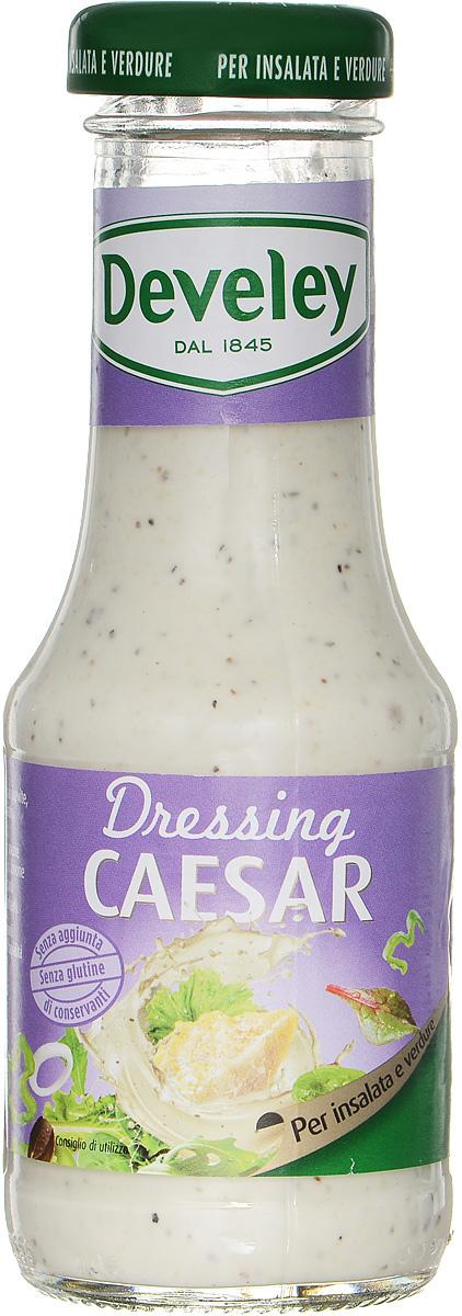 Develey Цезарь соус салатный, 200 мл0120710Соус на основе растительного масла Develey Цезарь идеально подходит в качестве заправки к салатам. Это изысканная заправка с ярким, неповторимым, гармоничным вкусом, которая придаст салатам дополнительные вкусовые качества и соединит ингредиенты блюда между собой.