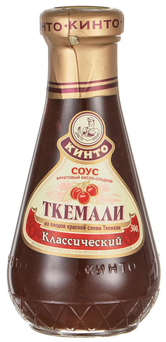 Кинто Ткемали классический соус фруктовый, 300 г1093Фруктовый кисло-сладкий соус Кинто Ткемали классический изготовлен из отборных сортов дикой красной сливы ткемали. Подходит к жареным и печеным блюдам из мяса, морепродуктов и картофеля. Не содержит ГМО, консервантов, загустителей и красителей. Соусы ткемали занимают одно из почетных мест в грузинской кухне и готовятся из различных видов слив, от зеленой до терна. Соусы ткемали Кинто удивят гурманов изысканными, натуральными и приготовленными по традиционным рецептам вкусами. Подобно первым лучам солнца, этот соус добавит каждому блюду свежести и изысканности.
