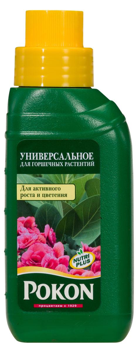 Удобрение Pokon универсальный для всех видов горшечных растений, 250 мл8711969023918Удобрение Pokon универсальный для всех видов горшечных растений:NPK 7 + 3 + 7 с добавкой микроэлементов и гуминовых экстрактов.Условия у вас дома далеки от естественных условий обитания растений, поэтому так важен хороший уход за ними. Это удобрение дает комнатным растениям все, чтобы оставаться сильными и здоровыми. Необходимые питательные вещества способствуют росту и цветению. Натуральная добавка из гуминовых экстрактов оптимизирует естественный баланс питательного грунта и улучшает доступ питательных веществ к растениям. Благодаря этому улучшается здоровье и укрепляется сила растений.Инструкция по применению:- Добавьте удобрение в воду для полива (10 мл на 1 л воды).- Поливайте растения раствором удобрения 1 раз в неделю.- Зимой уменьшайте дозировку вдвое (5 мл на 1 л воды).- В первые 4–6 недель после пересадки дополнительная подкормка не проводится.- Дозировка для гидрокультуры: 2,5 мл на 2 л воды.Состав:Жидкое удобрение с соотношением NPK 7 + 3 + 7 и с добавкой микроэлементов, содержащее гуминовые экстракты с натуральными питательными веществами.Удобрение соответствует нормам ЕС.