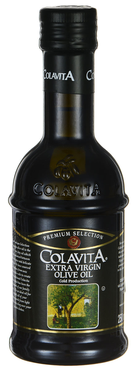 Colavita Extra Virgin масло оливковое нерафинированное, 250 мл0120710Colavita Extra Virgin - это оливковое масло первого холодного отжима. Густое темное нерафинированное масло обладает легкой горчинкой, изготовлено без фильтрации, из свежих итальянских оливок, сохранивших все свои натуральные свойства. Нерафинированное масло - это ценнейший диетический, оздоровительный продукт для правильного и рационального питания, который легче других масел усваивается организмом.