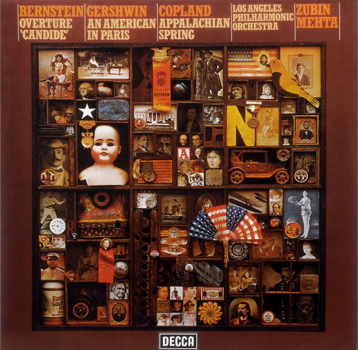 Los Angeles Philharmonic Orchestra,Зубин Мета Zubin Mehta, Los Angeles Philharmonic Orchestra. Bernstein / Gershwin / Copland (LP)