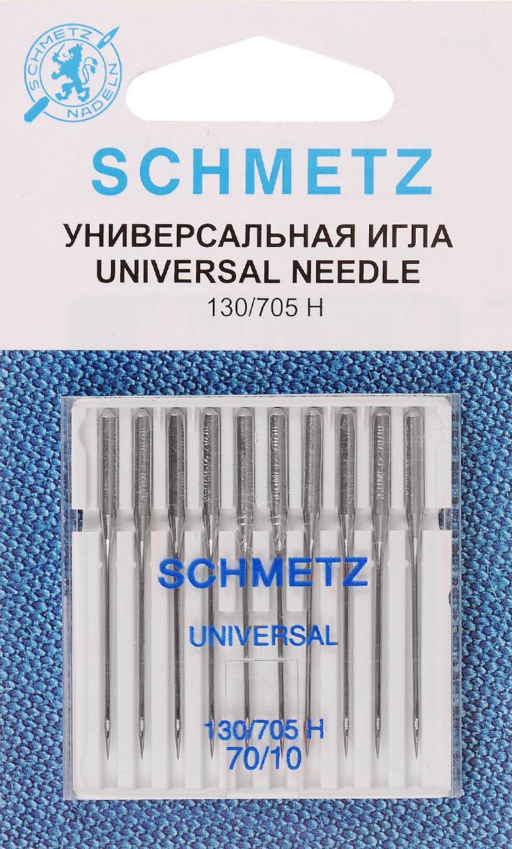 Набор игл Schmetz, №70, 10 штSM 10-09Набор Schmetz состоит из 10 игл для бытовых швейных машин. Изделия выполнены из высококачественной стали. Предназначены для вязаных изделий и трикотажа.Комплектация: 10 шт. Размер игл: №70.Система игл: 130/705 H.
