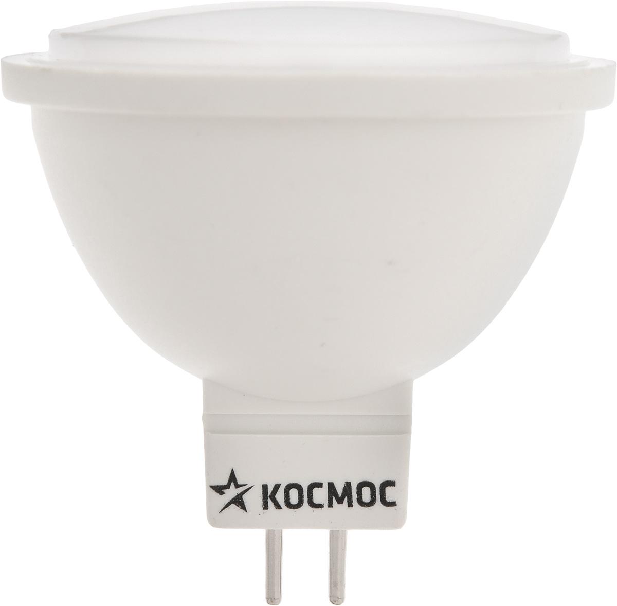 Светодиодная лампа Kosmos, теплый свет, цоколь GU5.3, 7W, 220V