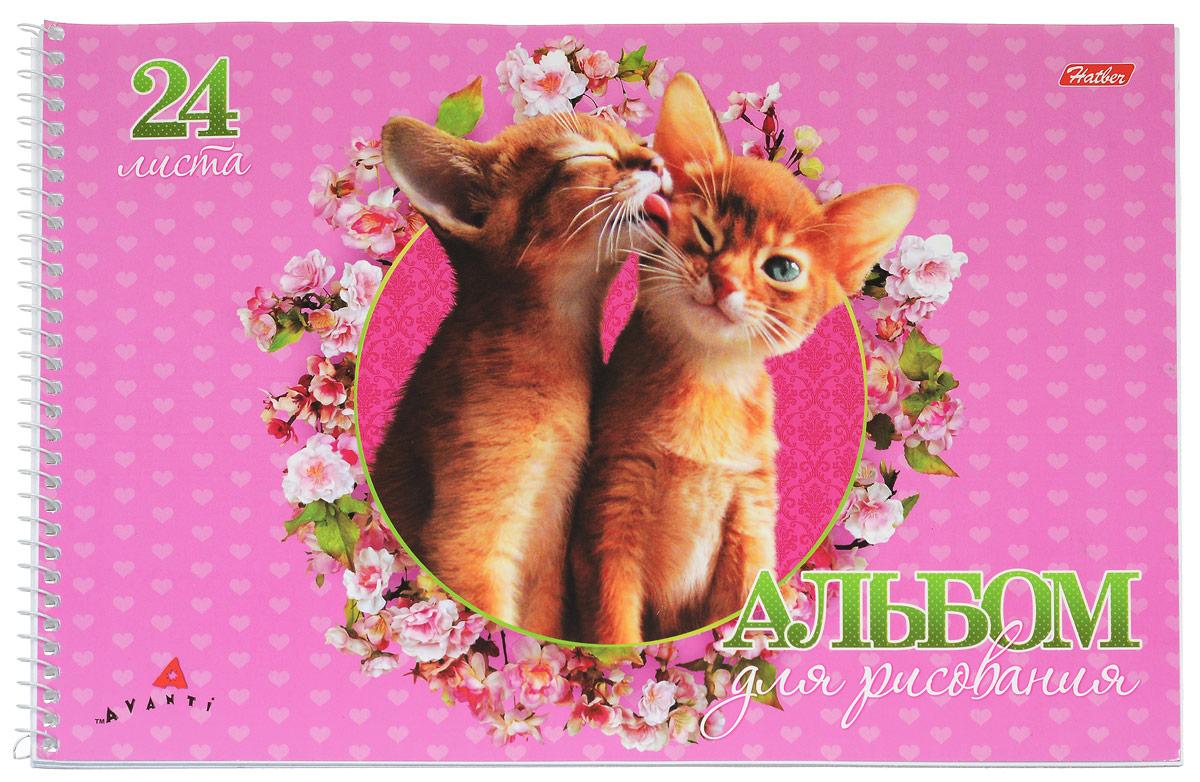 Hatber Альбом для рисования Милашки 24 листа цвет розовый1-20-251_мишкаАльбом для рисования Hatber Милашки будет вдохновлять ребенка на творческий процесс.Альбом изготовлен из белоснежной бумаги с яркой обложкой из плотного картона, оформленной изображением двух котят. Внутренний блок альбома состоит из 24 листов бумаги, которые снабжены микроперфорацией и являются отрывными. Способ крепления - спираль.Высокое качество бумаги позволяет рисовать в альбоме карандашами, фломастерами, акварельными и гуашевыми красками. Во время рисования совершенствуются ассоциативное, аналитическое и творческое мышления. Занимаясь изобразительным творчеством, малыш тренирует мелкую моторику рук, становится более усидчивым и спокойным.