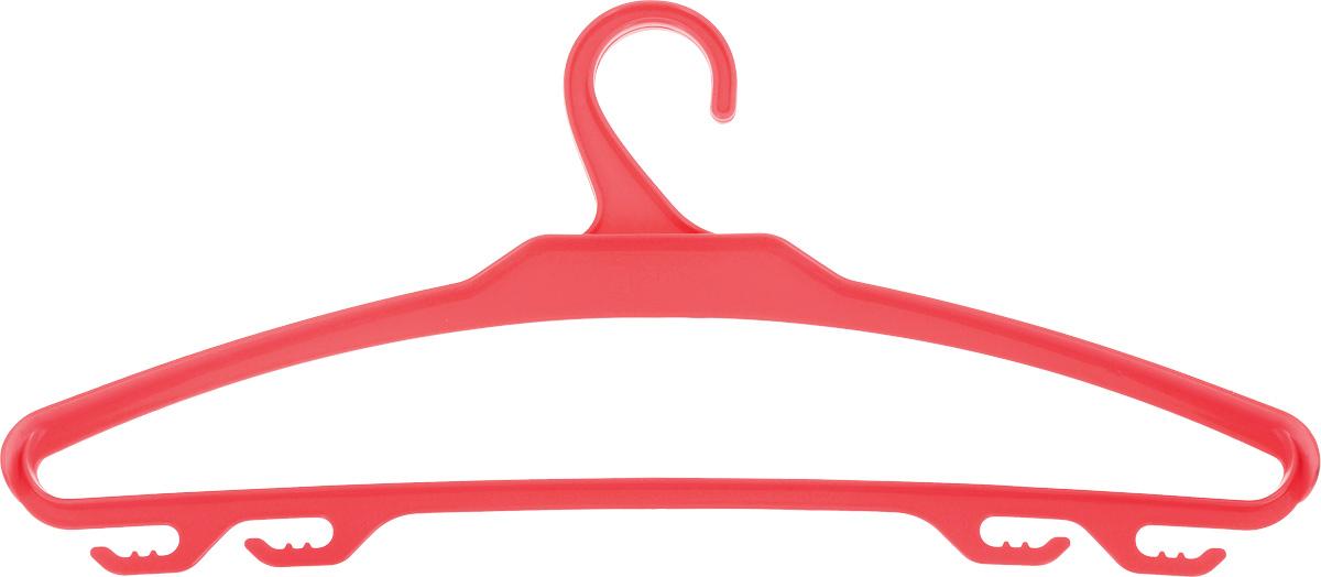 Вешалка для верхней одежды BranQ, цвет: коралловый, размер 48-5041619Вешалка для верхней одежды BranQ, выполненная из высококачественного полипропилена (пластика), оснащена перекладиной и боковыми крючками. Вешалка - это незаменимая вещь для того, чтобы ваша одежда всегда оставалась в хорошем состоянии.Размер одежды: 48-50.