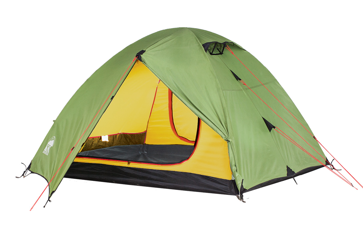Палатка KSL Camp 3KOCAc6009LEDЭта вместительная трекинговая трехместная палатка KSL CAMP 3 с двумя входами - отличный выбор для тех, кто планирует отправляться в походы в весенний, летний или осенний период. Одна из главных особенностей модели - отличная вентиляция. В верхней части купола палатки расположены 2 вентиляционных окна - они обеспечат вам приток свежего воздуха в любое время. А благодаря ветровым клапанам, внутрь в случае дождя не попадет ни одной капли. Вам также не стоит опасаться нашествия насекомых - противомоскитная сетка обеспечит спокойные ночи без непрошеных гостей. Внутреннее пространство туристической палатки KSL CAMP 3 продумано до мелочей - палатку предусмотрительно оснастили полочкой, на которой можно разместить небольшие предметы, кольцом для фонарика и четырьмя карманами для часто необходимых вещей. У палатки имеется два вместительных тамбура, которые позволят вам хранить отдельно вещи (посуду, одежду) и обувь. Для усиления края тента палатки используется стропа, а все швы обработаны термоусадочной лентой. Это позволяет им быть абсолютно герметичными и не пропускать влагу. На молниях на внешнем тенте предусмотрены алюминиевые крючки, снижающие нагрузку на них. Ткань палатки устойчива к воздействию ультрафиолета, благодаря чему даже спустя несколько лет активного использования она останется яркой, а специальная пропитка способна задержать распространение огня. Вес: 4,5 кг. Количество мест: 3. Сезонность: весна-осень. Размер: 390 x 215 x 115 см. Размер в чехле: 23 x 56 см. Материал тента: Polyester 190T PU 2500 mm. Материал дна: Polyester 150D Oxford PU 3000 mm. Внутренняя палатка: есть. Материал дуг: Durapol 8.5 mm. Ветроустойчивость: средняя. Количество входов: 2. Область применения: трекинг.Пропитка, задерживающая распространение огня. Швы герметизированы термоусадочной лентой. Узлы палатки, испытывающие высокие нагрузки, усилены более прочной тканью. Край тента обшит прочной стропой. Молнии на внешнем тенте фиксируются алюминиевым крючком