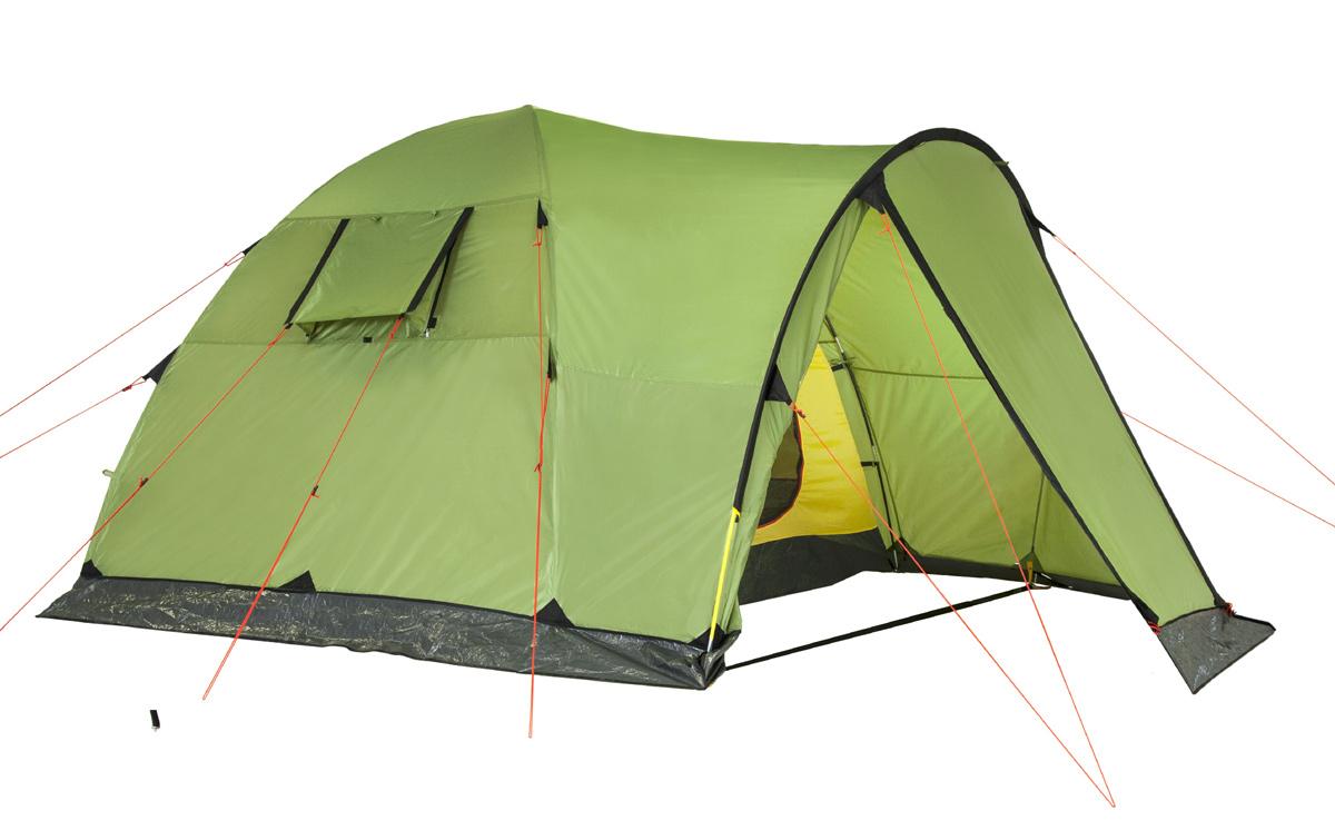 Палатка KSL Campo 467742Основное отличие кемпинговой палатки KSL CAMPO 4 - ее высота. Она составляет 1,95м. То есть в палатке может легко встать во весь рост даже взрослый человек. Палатка обладает повышенной вместимостью - в ней с комфортом может разместиться 4 человека. Кроме этого, у палатки имеется просторный тамбур, позволяющий хранить в нем большое количество вещей. Для удобства и комфорта туриста конструкторы предусмотрели ряд важных деталей. Так, с размещением внутри палатки небольших, но часто нужных вещей не возникнет никаких проблем. Для этого имеется четыре кармана и полочка. Для фиксации молний на внешнем тенте у модели предусмотрены крючки из алюминия. Они позволяют вам быть уверенными, что молния не разойдется в самый неподходящий момент. Для крепления светильника внутри палатки имеется кольцо. Кемпинговая палатка KSL CAMPO 4 рассчитана на использование преимущественно в летнее время. Палатка оснащена противомоскитной сеткой, что особенно актуально в летние ночи. Модель обладает высокой прочностью - для усиления мест, испытывающих большие нагрузки, используется прочная ткань. Для палатки характерен повышенный уровень противопожарной безопасности - ткань пропитана специальным составом, сдерживающим возгорание. Помимо этого ткань обладает повышенной устойчивостью к ультрафиолету. Она не выгорает и не теряет свой цвет. Вес: 10,1 кг. Количество мест: 4. Сезонность: лето. Размер: 340 x 240 x 195 см. Размер в чехле: 28 х 70 см. Материал тента: Polyester 190T PU 2500 mm. Материал дна: Polyethylene 3000 mm. Внутренняя палатка: есть. Материал дуг: Fib 11 mm Steel 16mm. Ветроустойчивость: низкая. Количество входов: 2. Область применения: кемпинг.Пропитка, задерживающая распространение огня. Швы герметизированы термоусадочной лентой. Узлы палатки, испытывающие высокие нагрузки, усилены более прочной тканью. Край тента обшит прочной стропой. Молнии на внешнем тенте фиксируются алюминиевым крючком. Большой тамбур для вещей. Цвет: зеленый. Материал: Polyester 190T 
