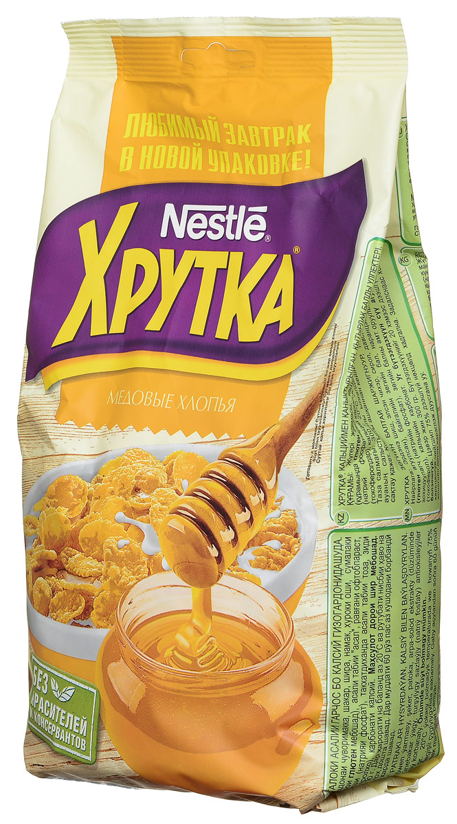 Nestle Хрутка Медовые хлопья готовый завтрак, 300 г готовый завтрак nestle nesquik шарики с шоколадом