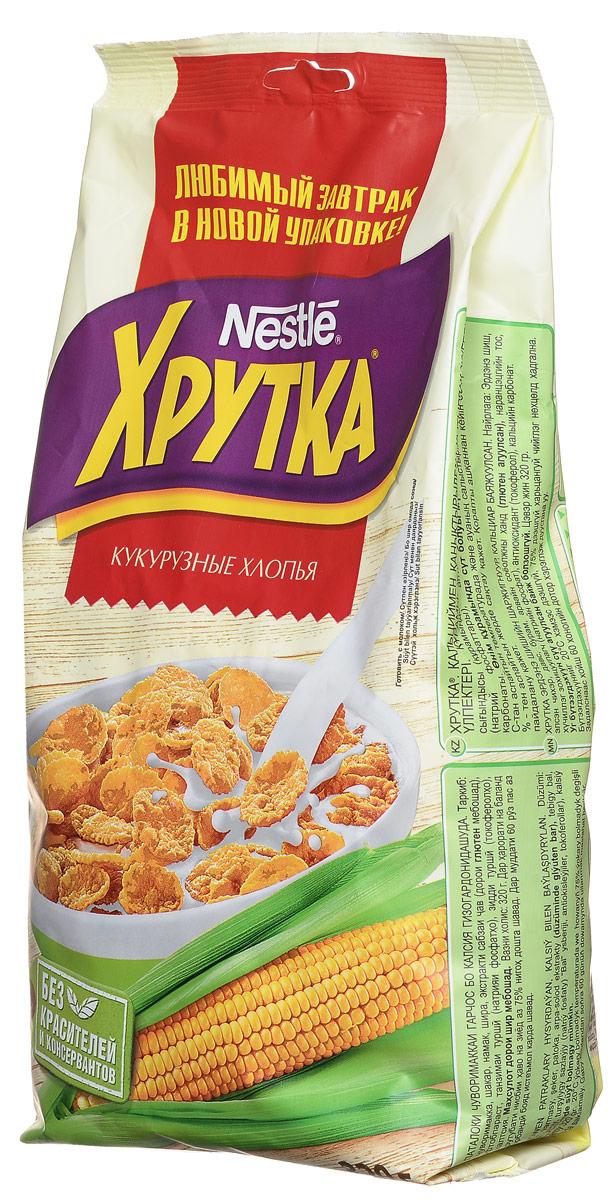 Nestle Хрутка Кукурузные хлопья готовый завтрак, 320 г0120710Готовый завтрак Nestle Хрутка - это именно то, что вам нужно! Добавьте молоко, йогурт, кефир или сок - и ваше утро начнется с вкусного разнообразного завтрака. Кукурузные хлопья Хрутка производятся по высоким стандартам качества Nestle из кукурузы, выращенной в России. Кукурузные зерна тщательно отбираются, затем очищаются и подвергаются бережной обработке. Благодаря специальной технологии приготовления, хлопья получаются вкусными и полезными.