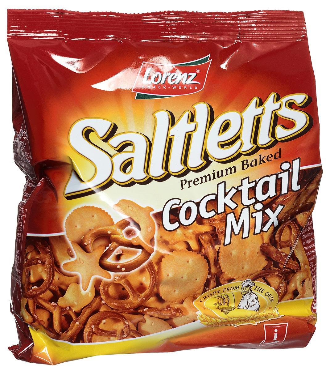 Lorenz Saltletts коктейль печенье и крендельки, 180 г0120710Вы сможете порадовать гостей коктейлем из крендельков и других восхитительных соленых снэков. В Saltletts Cocktail Mix каждый найдет то, что ему по вкусу!