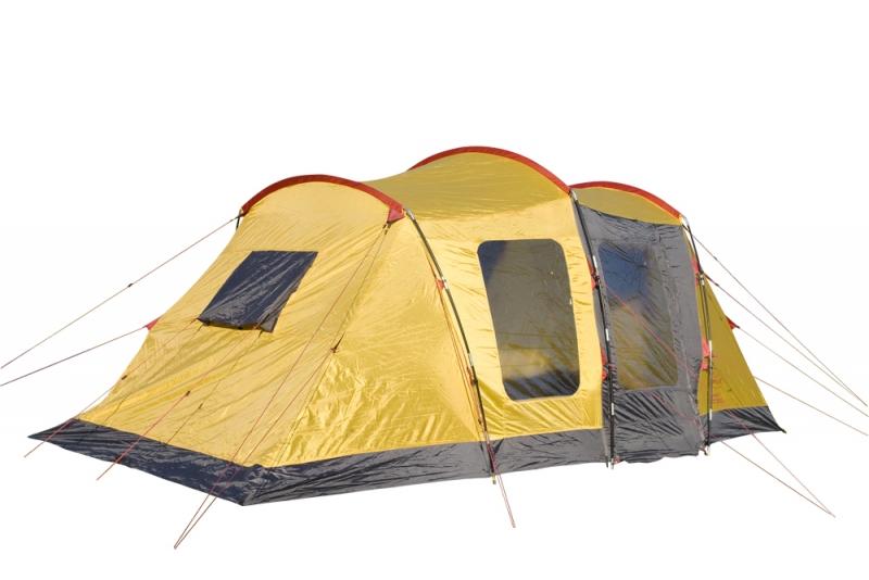 Палатка Campus Bordeaux 6, цвет: желтый, графитовый, красный
