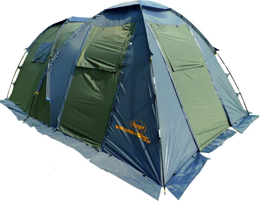 Палатка Canadian Camper GRAND CANYON 4, цвет: зеленый, серый776301Общие характеристикиНазначение: КемпингВнутренняя палатка: ЕстьКоличество мест: 4Тип установки каркаса: ВнешнийГеометрия: ПолусфераКонструкцияКоличество комнат: 2Количество входов во внутреннею палатку: 2Возможность крепления фонарика: ЕстьВентиляционные окна: ЕстьНавес: ЕстьЗащитаВодонепроницаемость тента: 5000мм. водяного столбаВодонепроницаемость дна: 7000мм. водяного столбаГерметизация швов: ЕстьВетрозащитная/снегозащитная юбка: ЕстьМоскитные сетки: ЕстьЗащита от ультрафиолета: ЕстьМатериалыМатериал дуг: ФибергласМатериал внутренней палатки: Дышащий полиэстерМатериал дна: СинтетикаМатериал тента: СинтетикаГабариты и весВес: 11.2кгРазмеры внутренней палатки ширина: 240смРазмеры внутренней палатки длина: 240смРазмеры внутренней палатки высота: 170смРазмеры внешней палатки ширина: 260смРазмеры внешней палатки длина: 460смРазмеры внешней палатки высота: 190см