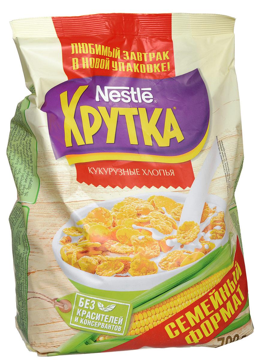 Nestle Хрутка Кукурузные хлопья готовый завтрак, 700 г0120710Готовый завтрак Nestle Хрутка - это именно то, что вам нужно! Добавьте молоко, йогурт, кефир или сок - и ваше утро начнется с вкусного разнообразного завтрака. Кукурузные хлопья Хрутка производятся по высоким стандартам качества Nestle из кукурузы, выращенной в России. Кукурузные зерна тщательно отбираются, затем очищаются и подвергаются бережной обработке. Благодаря специальной технологии приготовления, хлопья получаются вкусными и полезными.