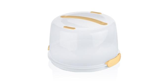 Тортовница-поднос с охлаждающим эффектом Tescoma Delicia, с крышкой, 34 х 34 х 18 см630840Охлаждающий поднос Tescoma Delicia изготовлен из высококачественного прочного пластика и оснащен прозрачной крышкой. Отлично подходит для переноса и подачи тортов, десертов, канапе, бутербродов, фруктов. Благодаря специальному вкладышу блюда дольше остаются охлажденными и свежими. Крышка фиксируется на подносе за счет двух зажимов, а удобная ручка позволяет переносить поднос с места на место. Можно мыть в посудомоечной машине кроме охлаждающей части.Диаметр подноса: 34 см.Высота подноса (с учетом крышки): 14 см.