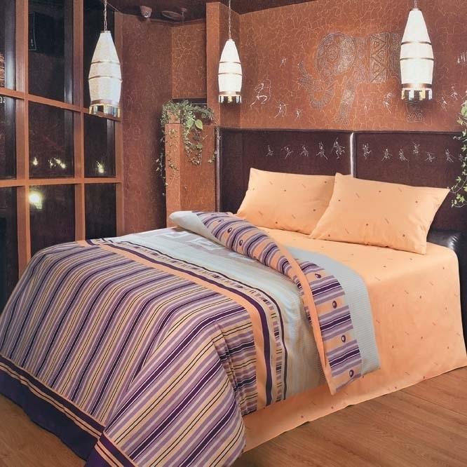 Комплект белья Roberto Rioni Cremona, евро, наволочки 70 x 70, цвет: оранжевый. 8457784577